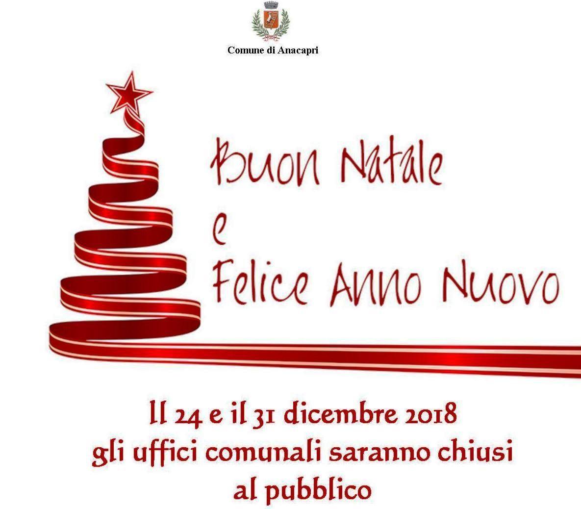 Chiusura uffici comunali per festività natalizie