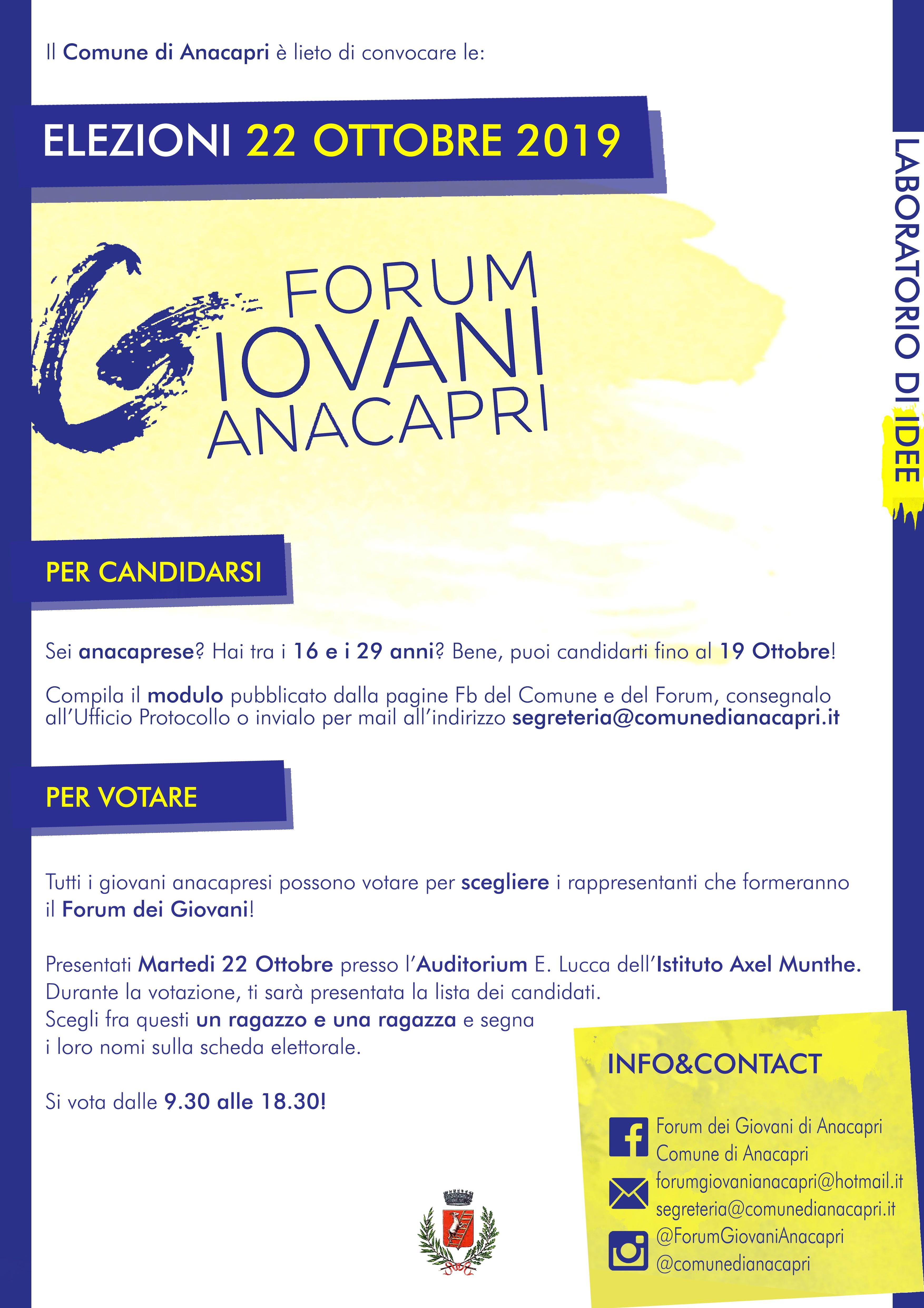 Elezioni del Forum dei Giovani di Anacapri